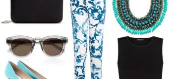 Slik styler du den mønstrete buksen