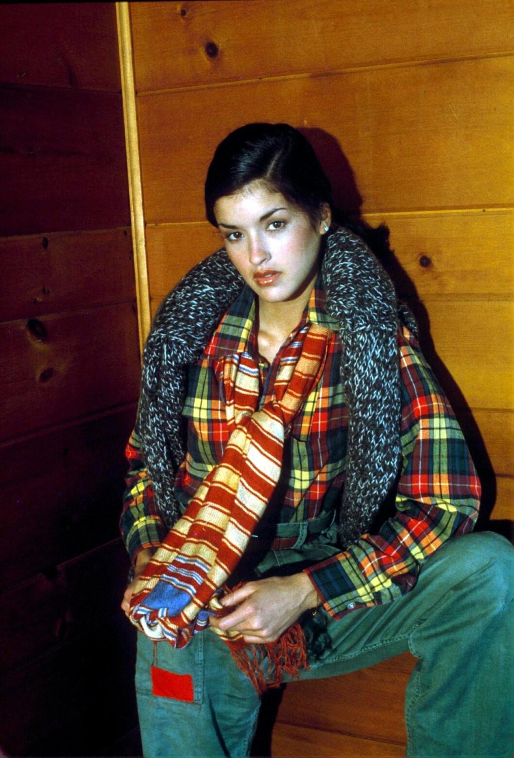 Janice Dickinson i 1977. Foto: REX/Media Press/All Over Press
