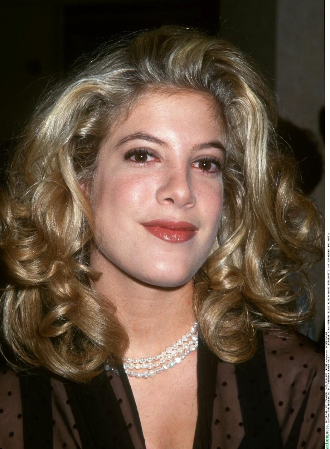 Tori Spelling i 1992.  Foto: action press/All Over Press