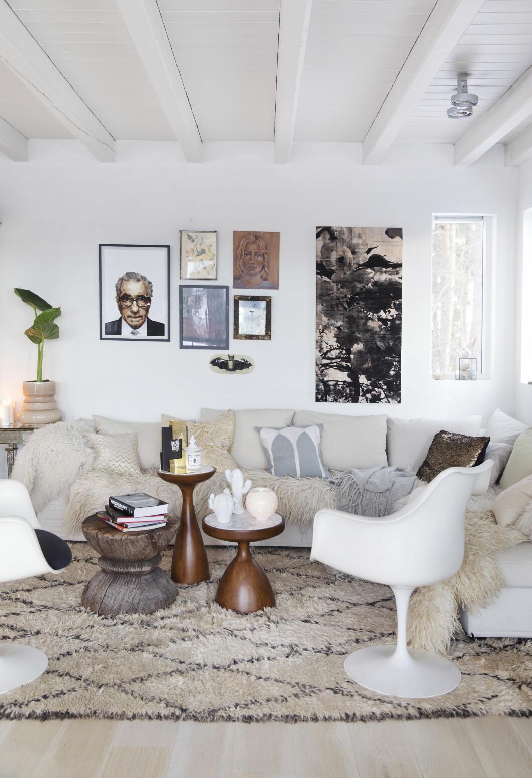 NORDISK OG UNIK: - Jeg kan ikke leve uten planter og en organisk følelse i rommet, sier interiørstylist Tone Kroken. Foto: All Over Press Norway