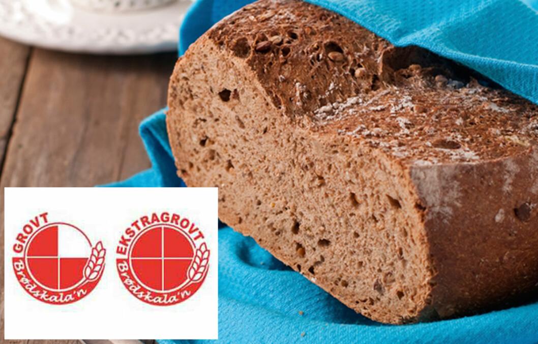 VELG GROVT: Den enkleste metoden for å velge riktig brød, er å sikte etter de variantene som fyller 4/4 felt i sirkelen til brødmerkeordninen og se etter nøkkelhullsmerking.  Foto: Thinkstock.com