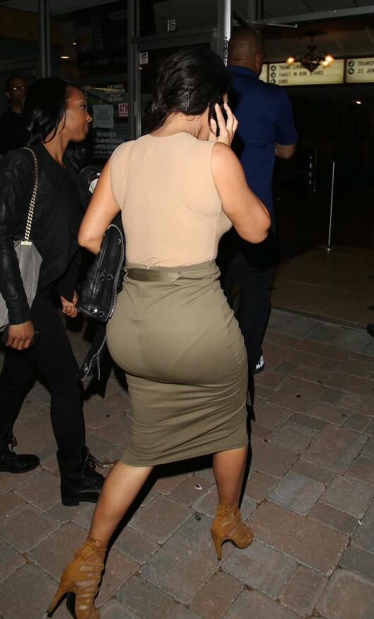 TRENDY RUMPE: Kim Kardashian har blitt superstjerne mye takket være denne stussen. Foto: Jack-rs-c-P/X17online.com/All Ov