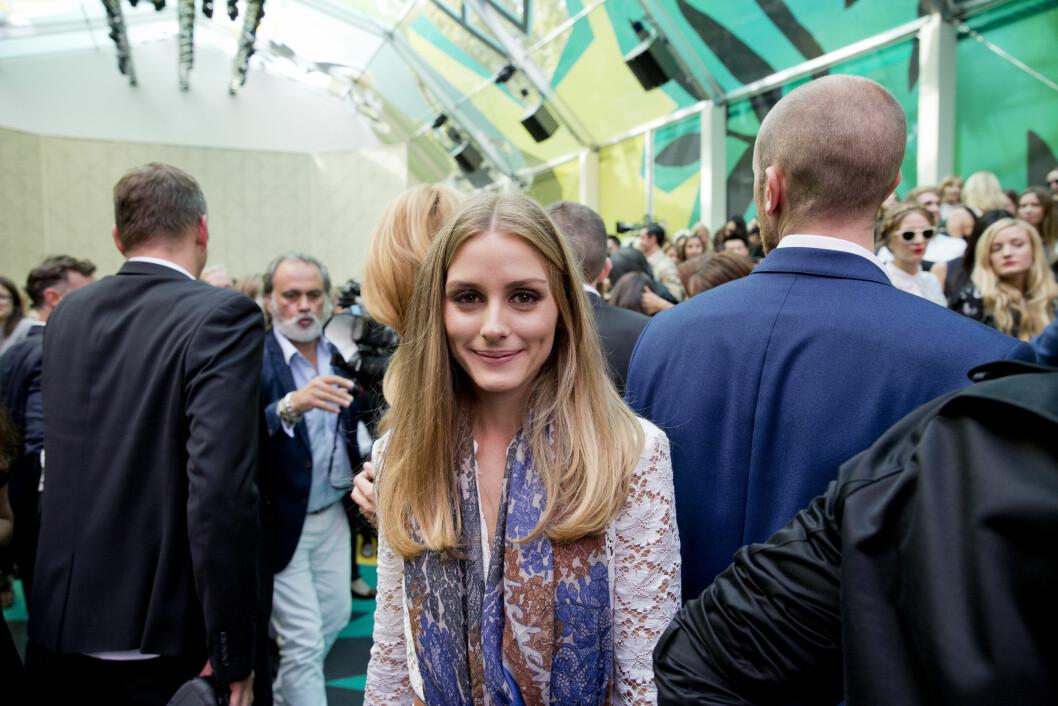 I BURBERRY FRA TOPP TIL TÅ: Til KK sier stilikon Olivia Palermo at hun kommer til å gå i mange av plaggene hun fikk se på catwalken til neste vår- og sommer. Foto: Sara Johannessen / KK
