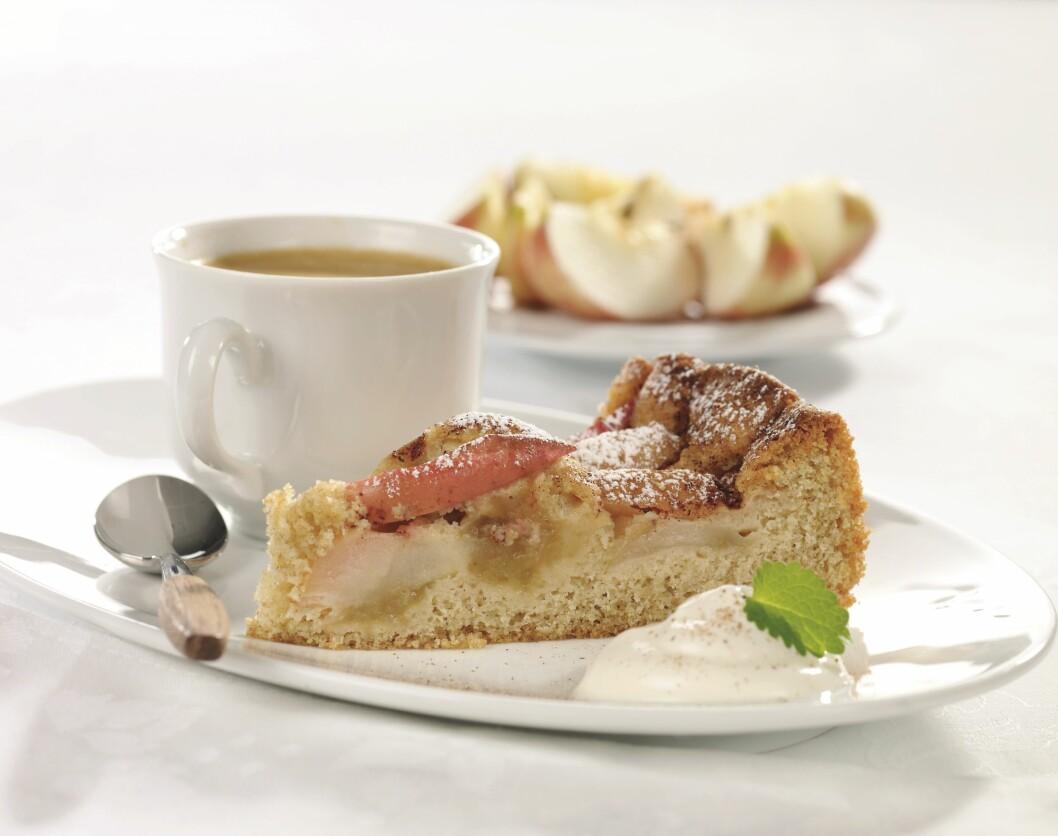 SUNNERE EPLEKAKE: Denne kaken inneholder kun 155 kcal per stykke! Foto: Grete Roede AS