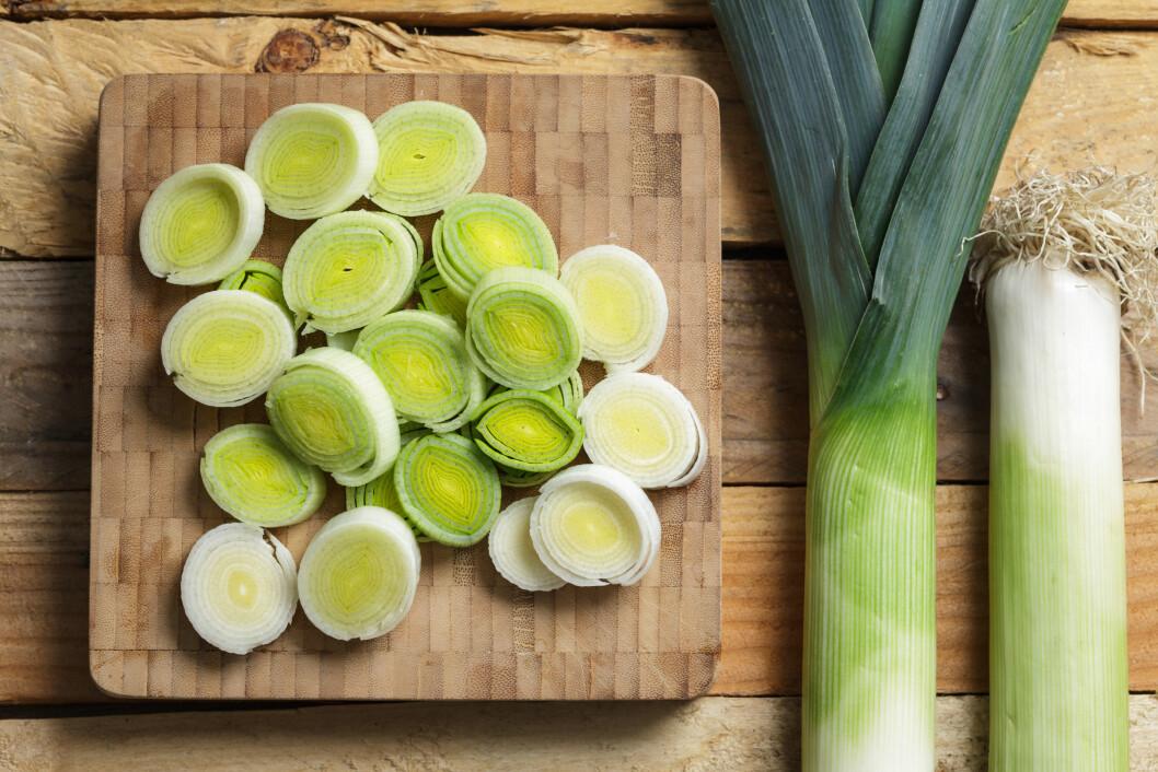 PURRE: Den lange grønne og hvite er blant de aller sunneste løkene.  Foto: All Over Press