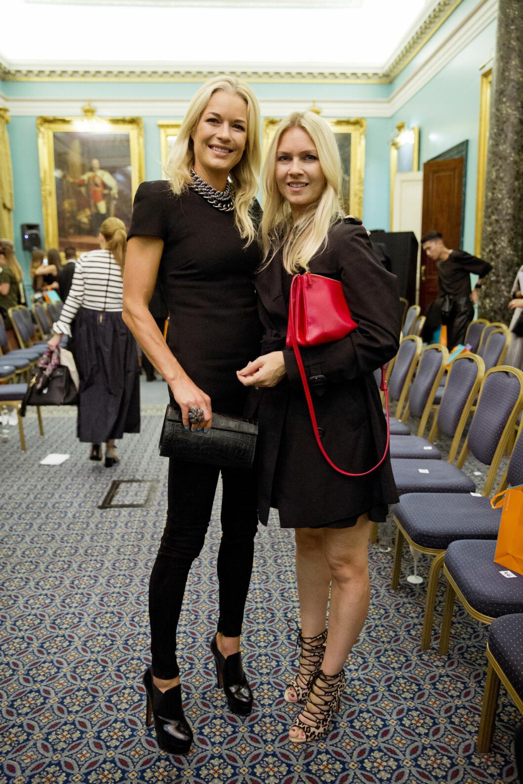 KK-SILJE TRAFF CELINA: KKs moteredaktør Silje Pedersen fikk en prat med Celina Middelfart under norske Kristian Aadneviks visning under moteuken i London søndag.