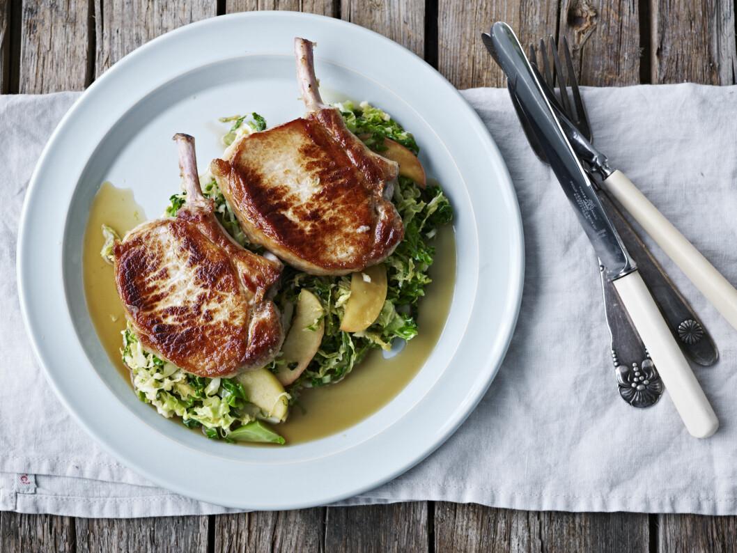 TIPS: En fin salat som tilbehør, kanskje i stedet for poteter, er også godt. Foto: All Over Press