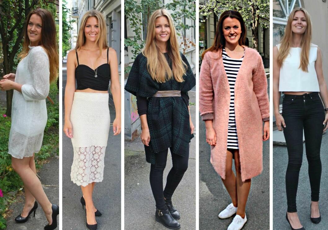 <strong>SYR ALT SELV:</strong> Her viser jentene noen av klærne de har sydd -  hvit blondekjole, hvitt blondeskjørt, poncho, lekker genser og hvit skinntopp.  Foto: sydetselv.blogg.no
