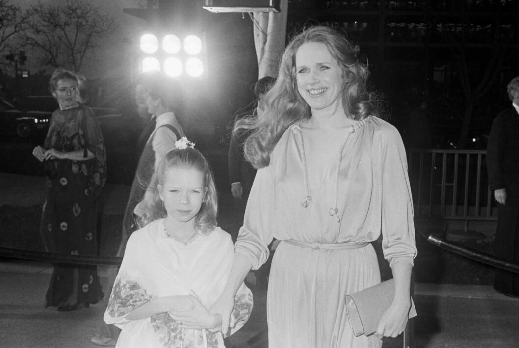 PÅ OSCAR: Liv Ullmann med datteren Linn på Oscar-utdelingen i 1977. Foto: All Over Press