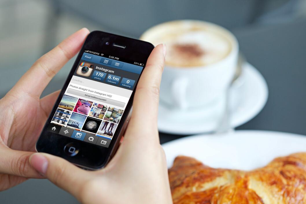 HEKTA PÅ INSTA: Flere enn 150 millioner mennesker har nå en Instagram-konto.  Foto: All Over Press