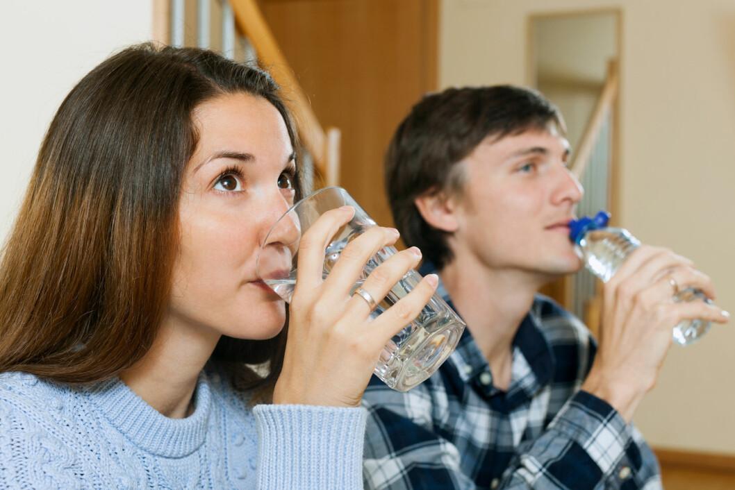 DRIKK MED MÅTE: Vann som er tilsatt smak og kullsyre bør nytes sammen med et måltid for å unngå syreskader. Foto: JackF - Fotolia