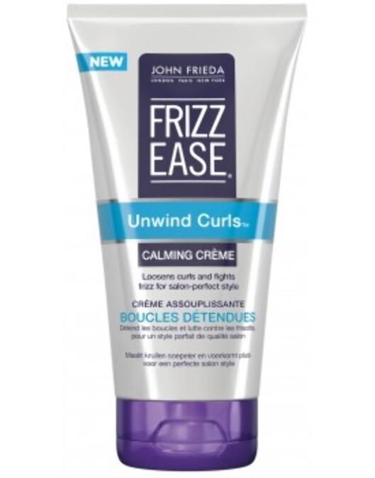 Frizz Ease Curl Calming Creme fra John Frieda, kr 105.  Foto: Produsenten