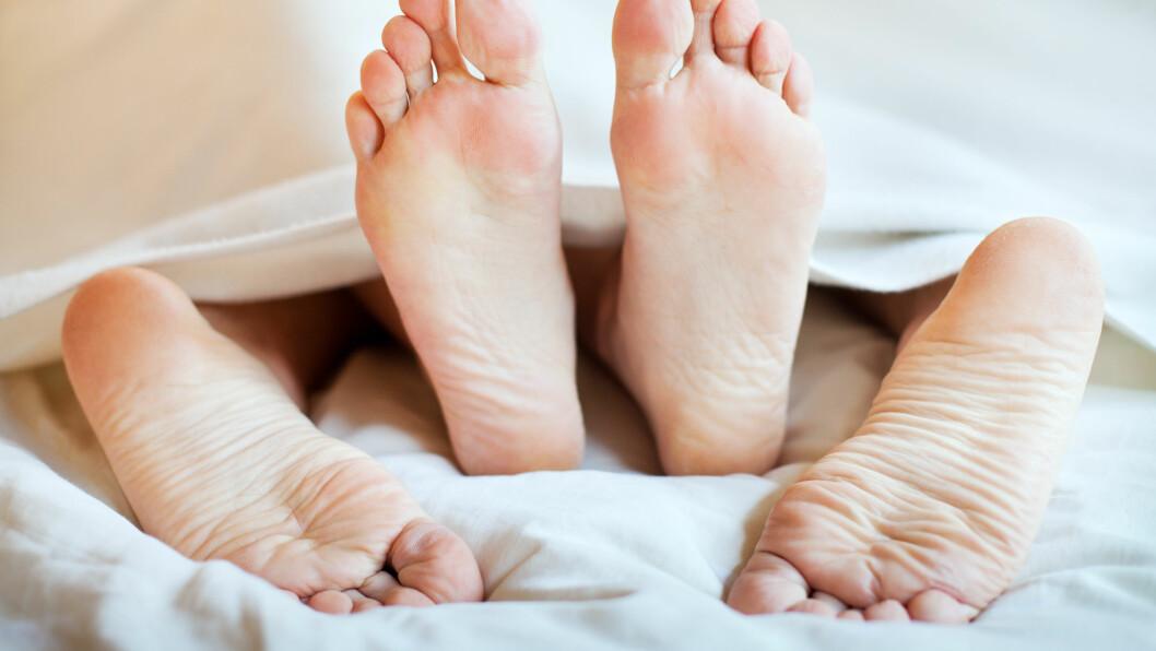 SEX-SKADER: Visste du at fem prosent av oss har måttet bli hjemme fra jobben noen dager som følge av en skade forårsaket av sex?  Foto: anyaberkut - Fotolia