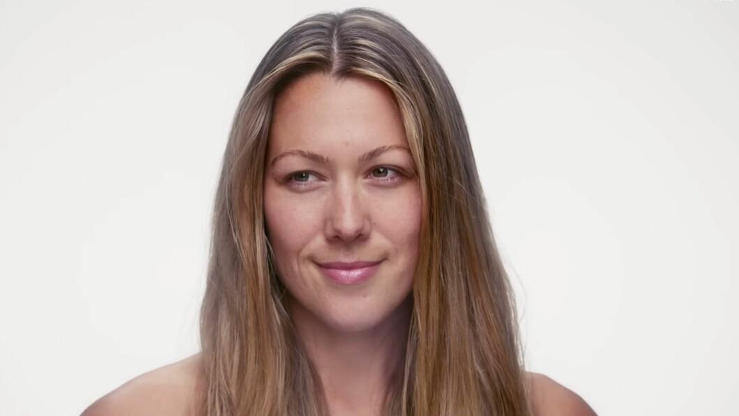 NATURLIG SKJØNNHET: Colbie Caillat fjerner sminken og viser sitt sanne ansikt i sin nye musikkvideo. Foto: Youtube.com