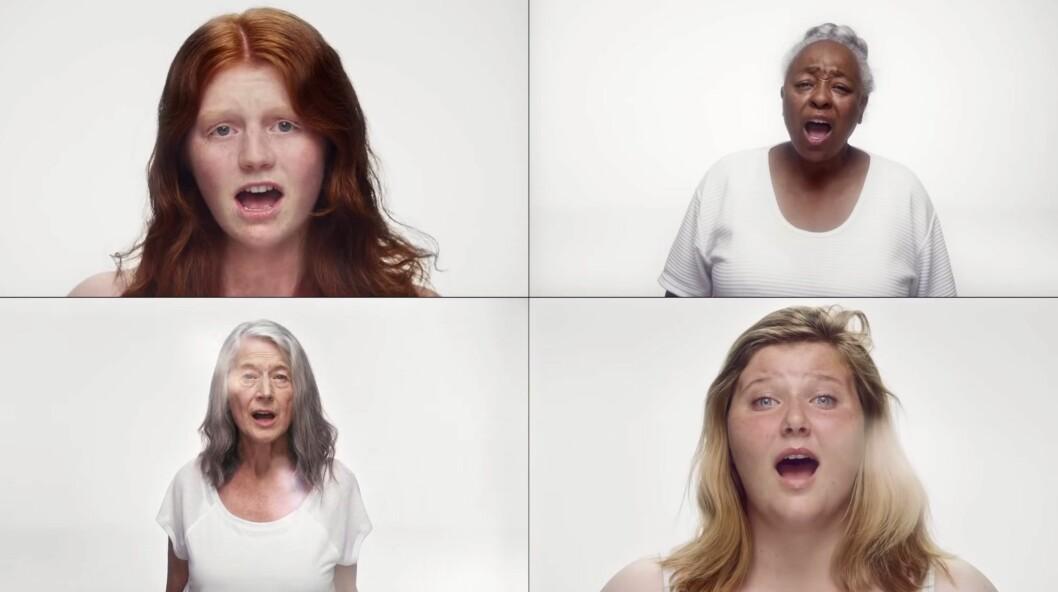 HELT NATURLIG: Noen av de flotte damene i Colbie Caillats nye musikkvideo. Foto: Youtube.com