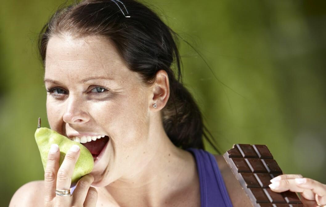 NEI TAKK: Det er av å spise sukker du får fett til å legge seg, ikke av å spise fett. Si derfor nei, takk til sukker, og velg heller et sunt kosthold.