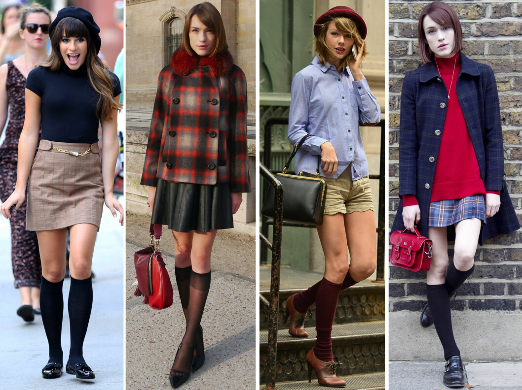 POPULÆR TREND: Trenden har allerede vært å se blant bloggere under London Fashion Week og stjerner som Lea Michele, Taylor Swift og Ella Catliff.