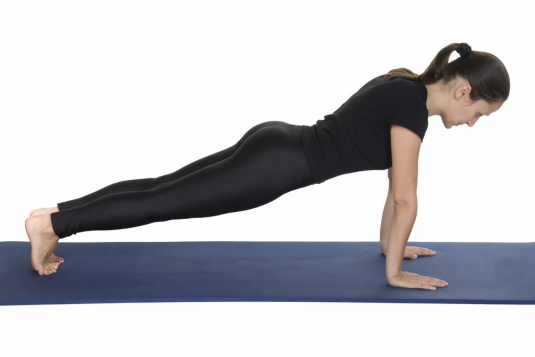 EFFEKTIV: Kjerneøvelser som planken er blant de mest effektive for å redusere magefettet.