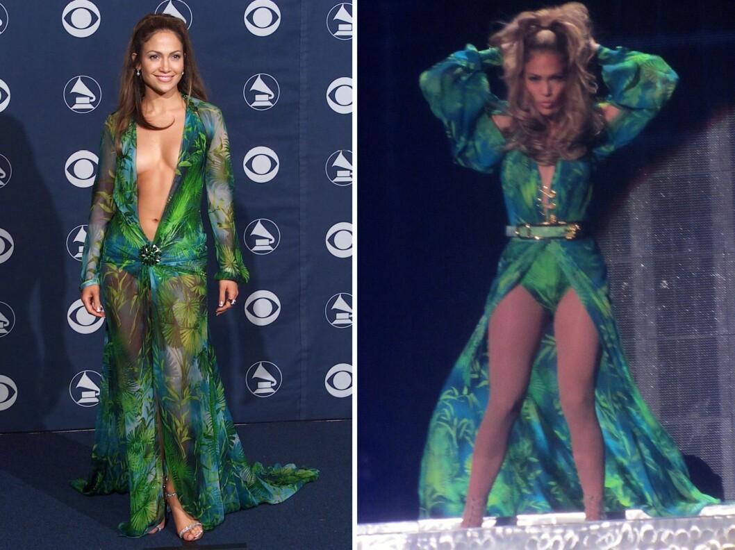 FØR OG NÅ: Hvem skulle trodd at det er 14 år mellom disse bildene? Jennifer Lopez (44) holder seg vanvittig godt! Foto: All Over Press