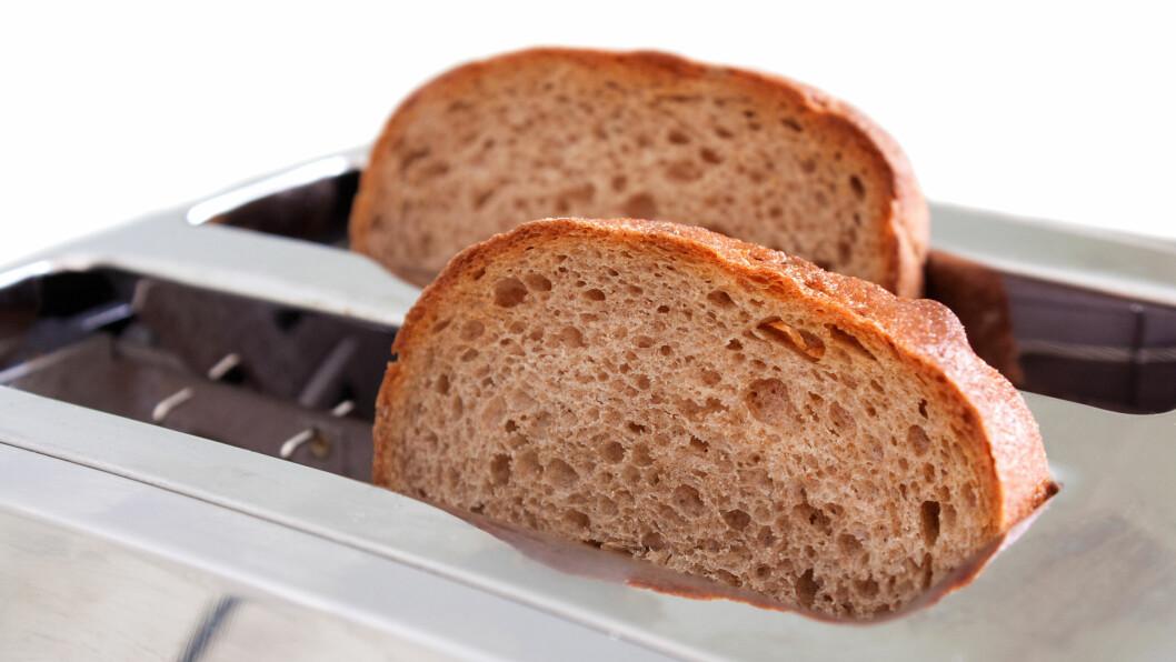<strong>RISTET BRØD:</strong> Når brød varmebehandles i for eksempel brødristeren, øker innholdet av antioksidanter.  Foto: merrypoppins - Fotolia