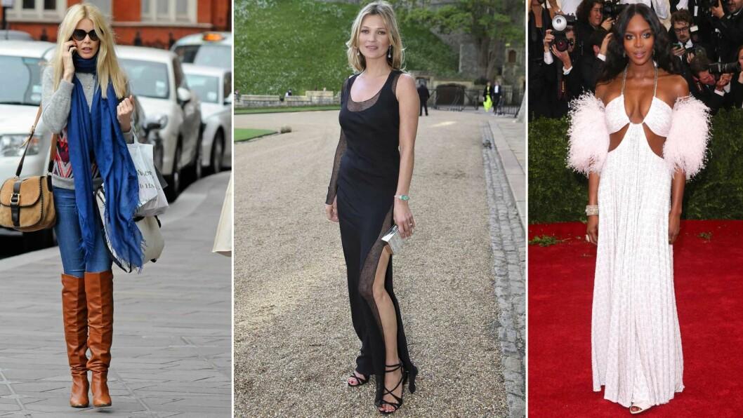 FORMUEN BARE VOKSER FOR SUPERMODELLENE FRA 90-TALLET: Ifølge en liste over hvilke supermodeller som tjener mest, er det Kate Moss, Claudia Schiffer og Naomi Campbell som fortsatt troner høyest. Foto: All Over Press