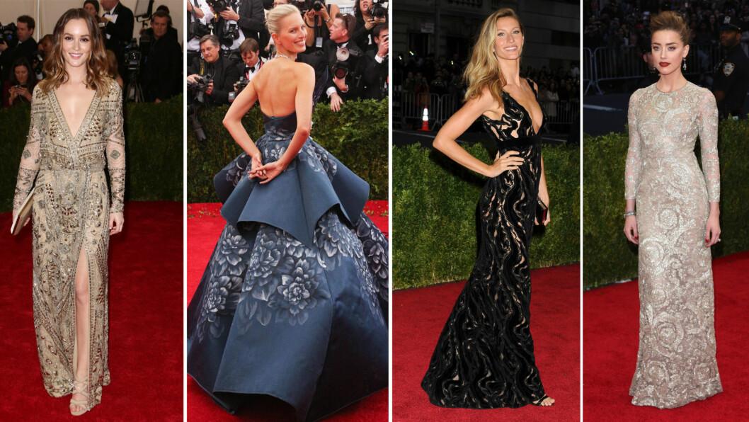 MET-GALLA 2014: Blant årets best kledde stjerner var Leighton Meester, Karolina Kurkova, Gisele Bundchen og Amber Heard. Se resten av de fantastiske kjolene videre i saken. Foto: All Over Press