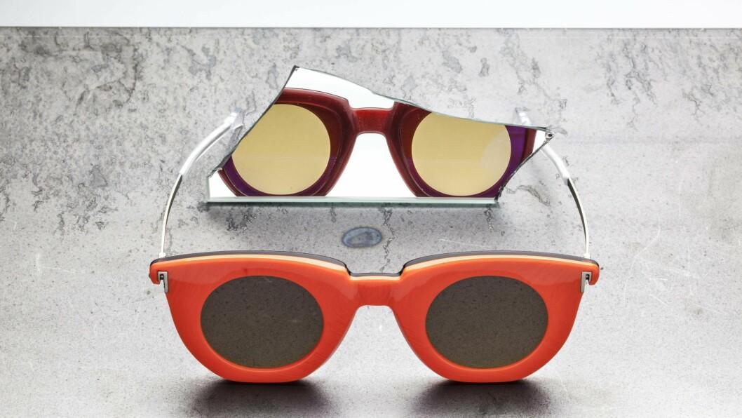 NYTT DESIGNSAMARBEID: De to norske merkene Kaibosh og Haik har sammen laget innovative solbriller som kan brukes begge veier. Foto: Produsenten
