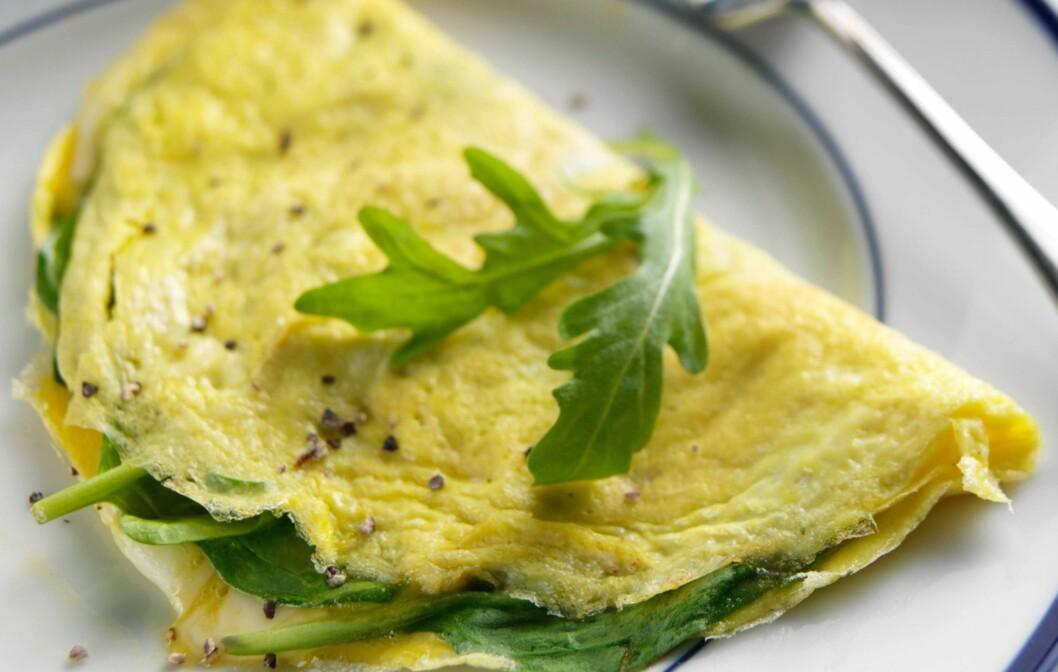 SPIS DEG GLADERE: Omelett, som er rik på proteiner, er noe av det ernæringsekspertene anbefaler! Foto: Tim Hill / Alamy/All Over Press