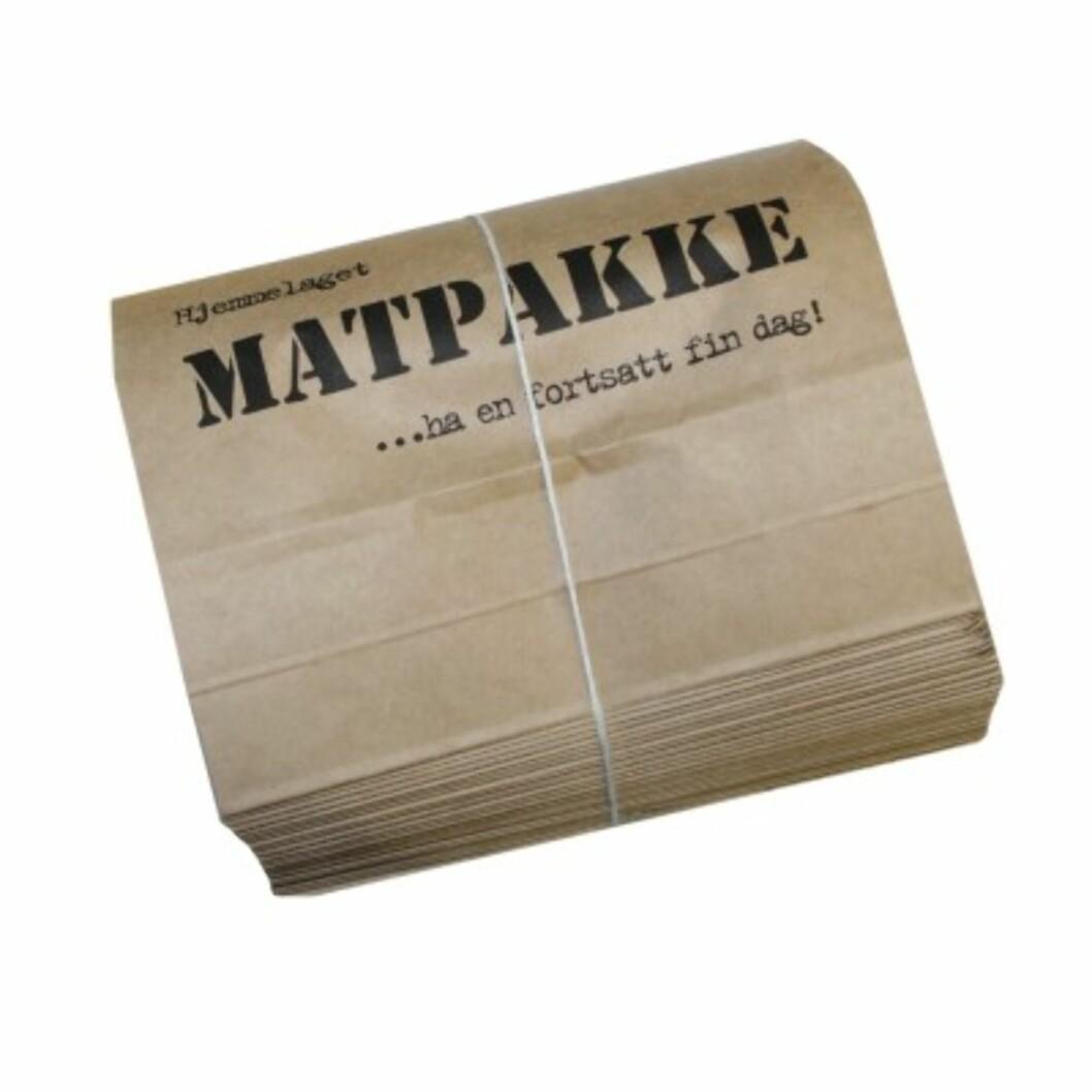 Matpakkeposer i papir til skituren (kr 49, Kremmerhuset). Foto: Produsenten