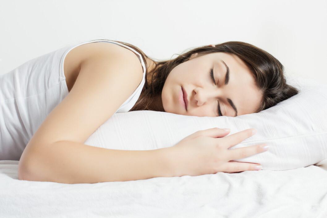 <strong>MER HJERNEAKTIVITET:</strong> Grunnen til at vi svetter mer om natten enn om dagen er at vi har mer hjerneaktivitet når vi sover.  Foto: Mitarart - Fotolia