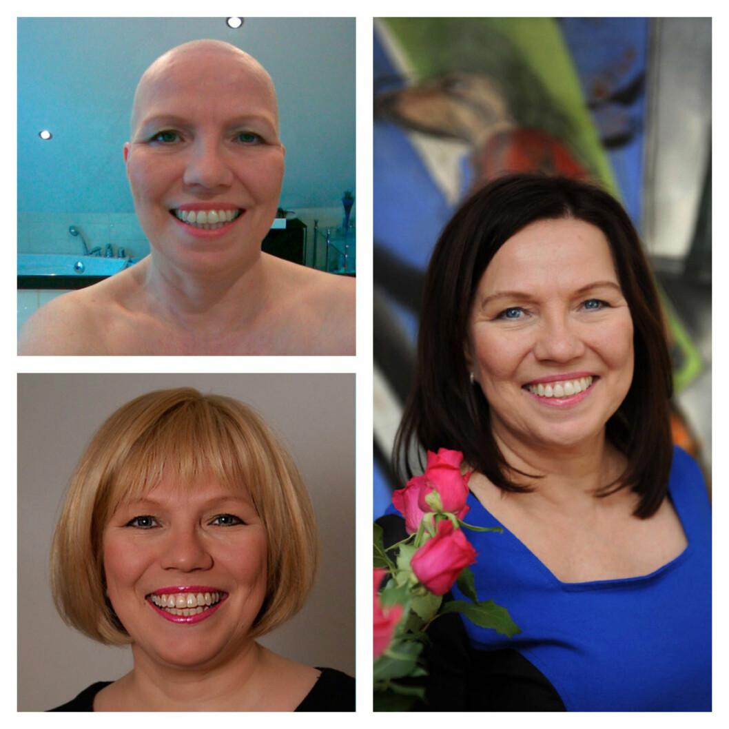 FORBEREDT: Beate fikk sin første cellegift i april 2008. En måned senere barberte hun bort alt håret. Hun skaffet seg to parykker isin opprinnelige blonde hårfarge da håret ble borte, men siden mars 2009 har hun hatt mørkt hår.