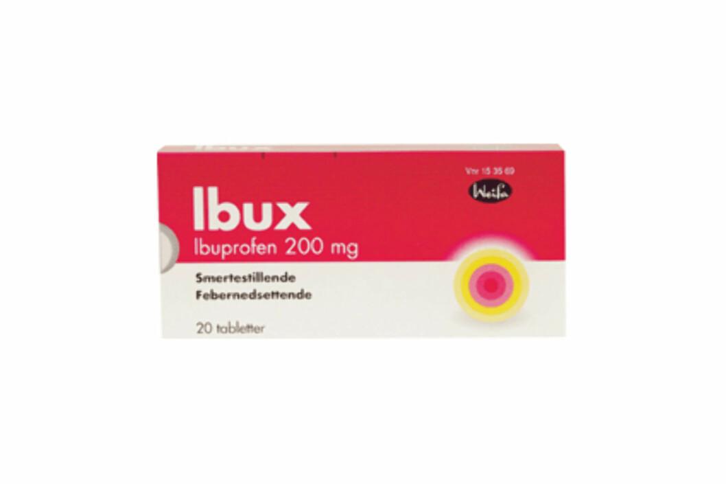 IBUPROFEN: Ved et overdrevent inntak av Ibux kan du blant annet få magesår.  Foto: Weifa