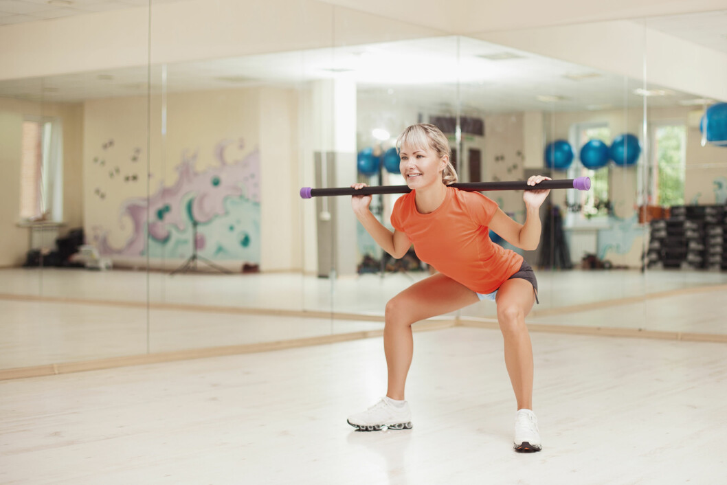 KNEBØY: Knebøy er den beste styrketreningsøvelsen for den nedre delen av kroppen. Foto: danilkorolev - Fotolia