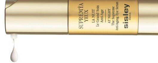 Sisley har utviklet en massasjeteknikk i forbindelse med nattøyekremen Supremya Yeux.
