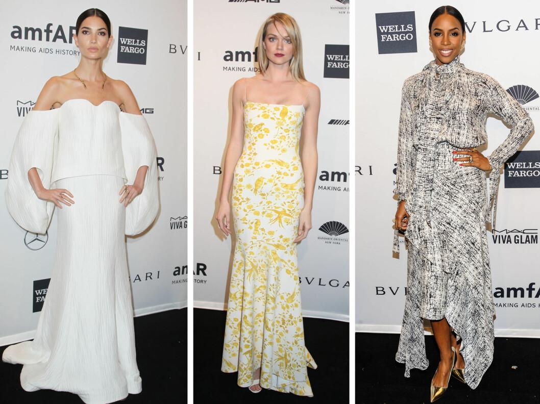 VAKRE: Supermodel lLily Aldridge og Lindsay Ellingson, samt popstjerne Kelly Rowland.  Foto: All Over Press