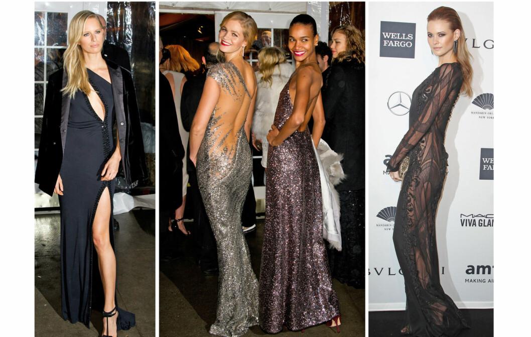 SEXY ENGLER: Flere av Victoria's Secrets mest kjente supermodeller var på plass på galaen i New York onsdag kveld.  Foto: All Over Press