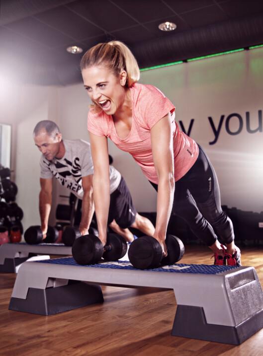 3D STRENGTH: En tøff styrketrening som passer for deg som har trent en del før. Foto: ELIXIA