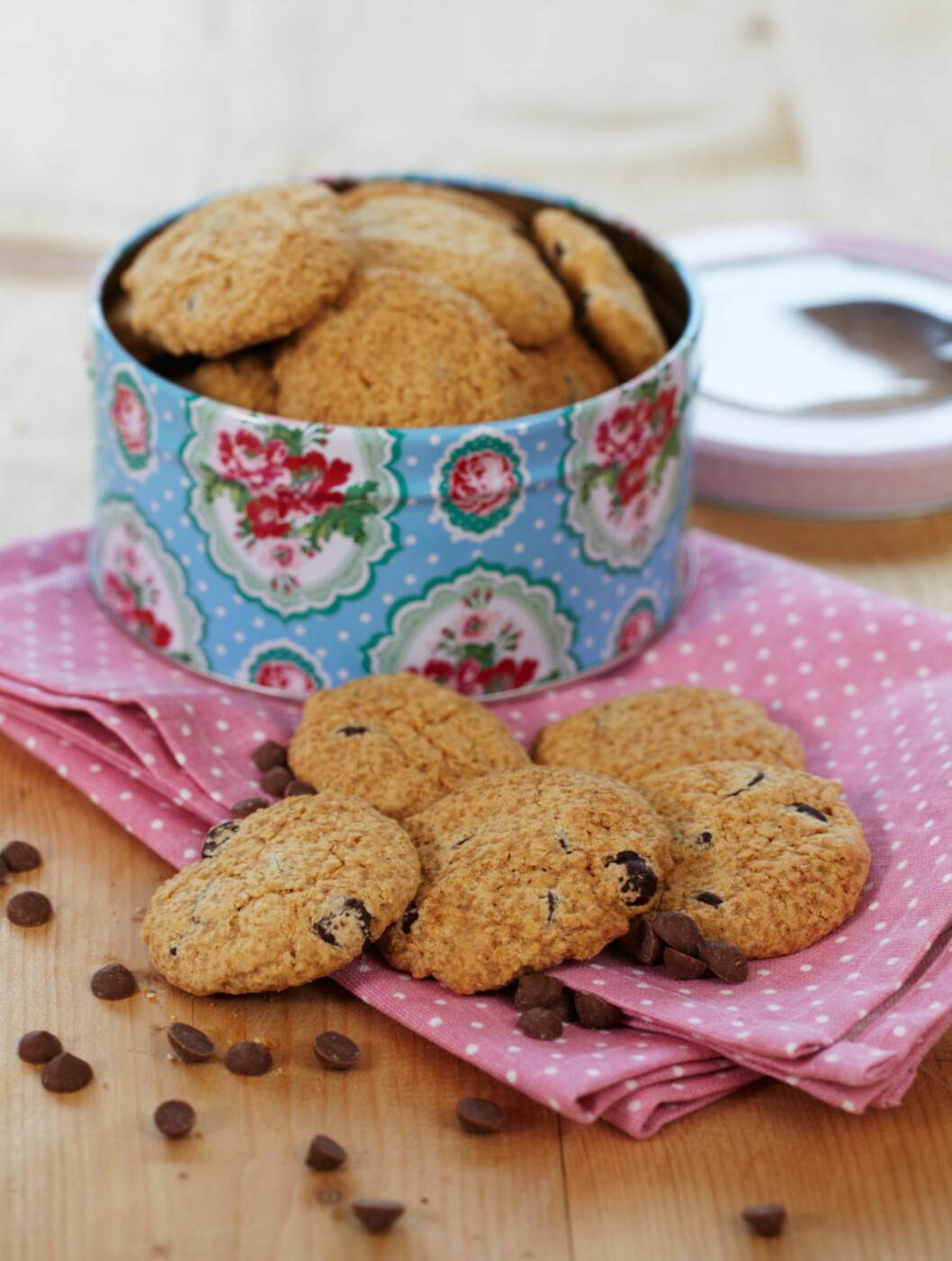Sjokoladechip-cookies Foto: Synøve Dreyer