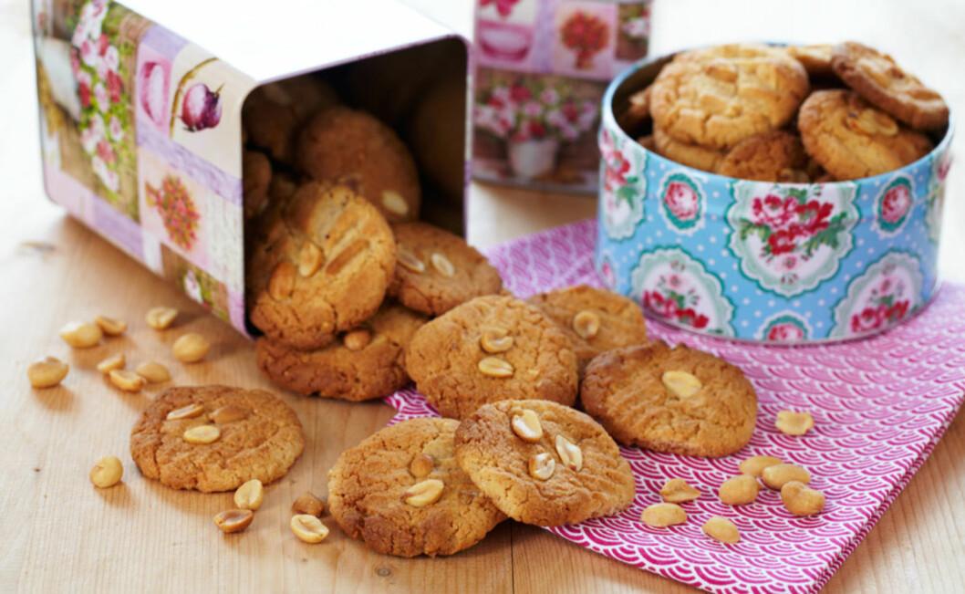 Peanøttsmør-cookies Foto: Synøve Dreyer