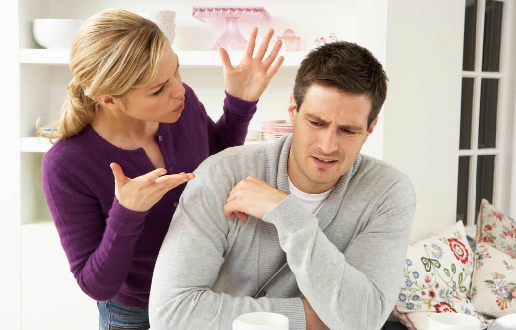UENIGE OM BOSTED?: Dersom dere er uenige om de store valgene, er det viktig å ta en pause og lytte til det partneren din har å si.  Foto: Monkey Business - Fotolia