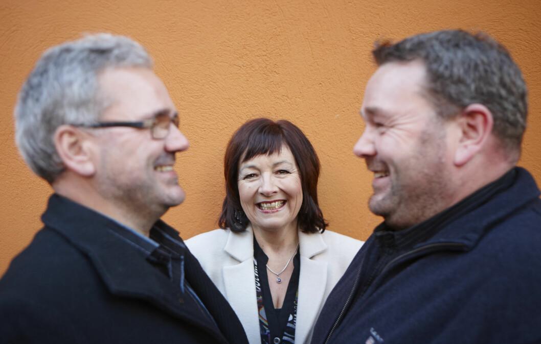 <strong>BIOLOGISKE SØSKEN:</strong> For ett år siden møtte Kristin for første gang brødrene sine Terje (t.v.) og Svein.  Foto: Geir Dokken / All Over Press