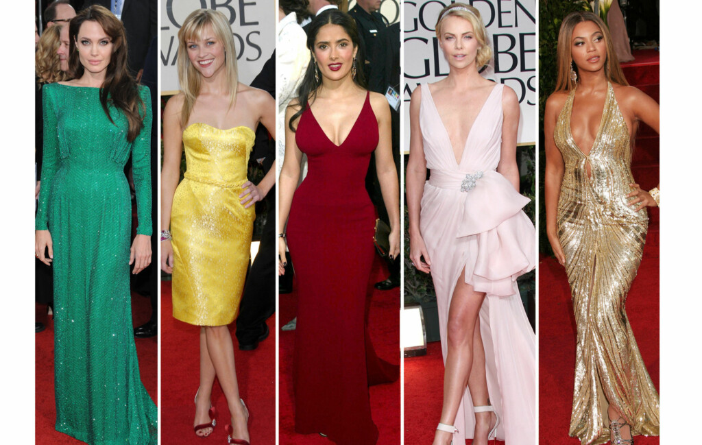 GOLDEN GLOBES: Angelina Jolie, Reese Witherspoon, Salma Hayek, Charlize Theron og Beyonce er bare noen av stjernene som har strålt på den røde løperen under de siste årenes Golden Globes-utdeling.  Foto: All Over Press