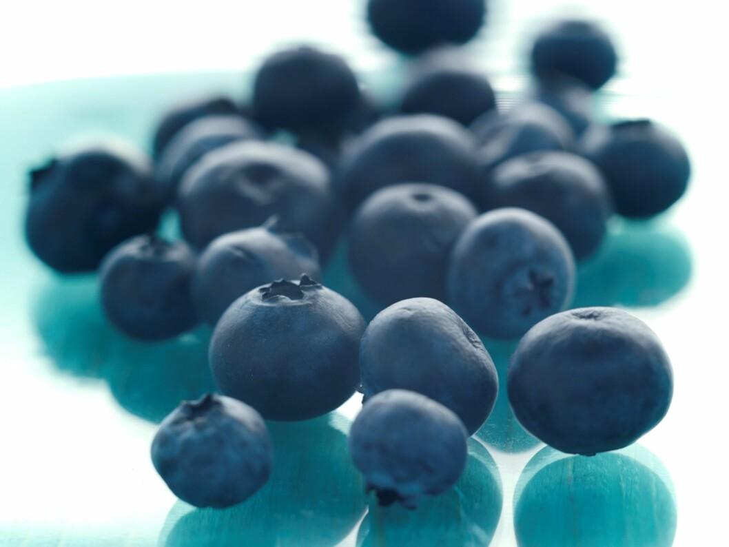 BÆR: Bær er supert for synet, og jo blåere de er, jo bedre.  Foto: Colourbox