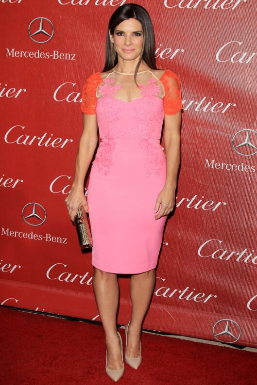 SANDRA BULLOCK: I kjole fra Alex Perry. Foto: All Over Press