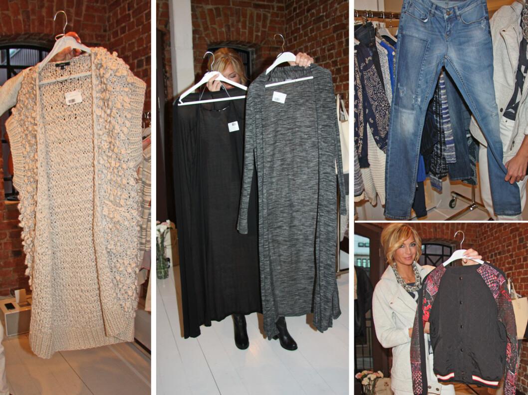 HOLDER KOKEN: Deilig chunky strikk, lange cardigans, slitte jeans og bomberjakken er blant høsttrendene som holder seg utover våren- og sommeren 2014 hos Lindex.  Foto: KK.no