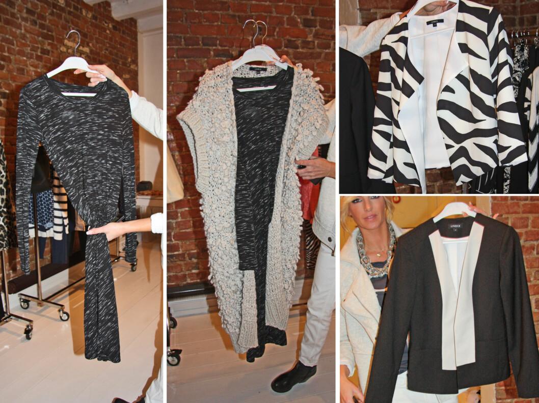 DRESSJAKKE OG KOMBIPLAGG: Dressjakken er litt kortere, mer feminin og har litt røffere detaljer til våren, og kjoler som du kan bruke til både jobb og fest (se stylingillustrasjon på bilde 1 og 2 til venstre) er også en stor trend.  Foto: KK.no