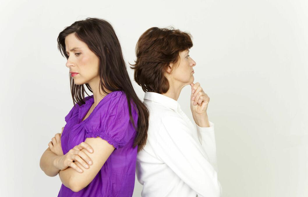 VANSKELIG FORHOLD MED MOR?: Har du et vanskelig forhold med moren din? Synes du hun maser og kritiserer mye? Få ekspertenes råd i denne saken! Foto: drubig-photo - Fotolia