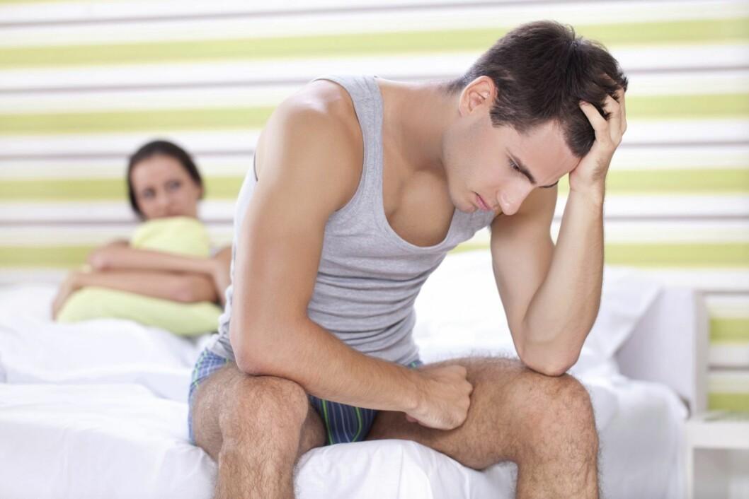 VÆR ÅPEN: Det er viktig at du er åpen med partneren din dersom du ikke klarer å oppnå orgasme under samleie. Sier du ikke noe vet han ikke hva han skal gjøre.  Foto: Getty Images/iStockphoto