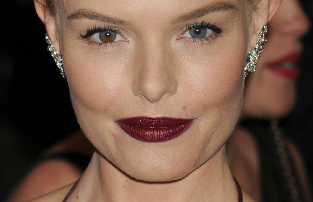 SEXY MØRKE LEPPER I HØST: Skuespiller og it-jente Kate Bosworth ser utrolig kul ut med sine mørke, nærmest gotiske lepper. Spørsmålet er hvordan hun får den til å sitte så pent? Svaret får du i denne saken! Foto: All Over Press