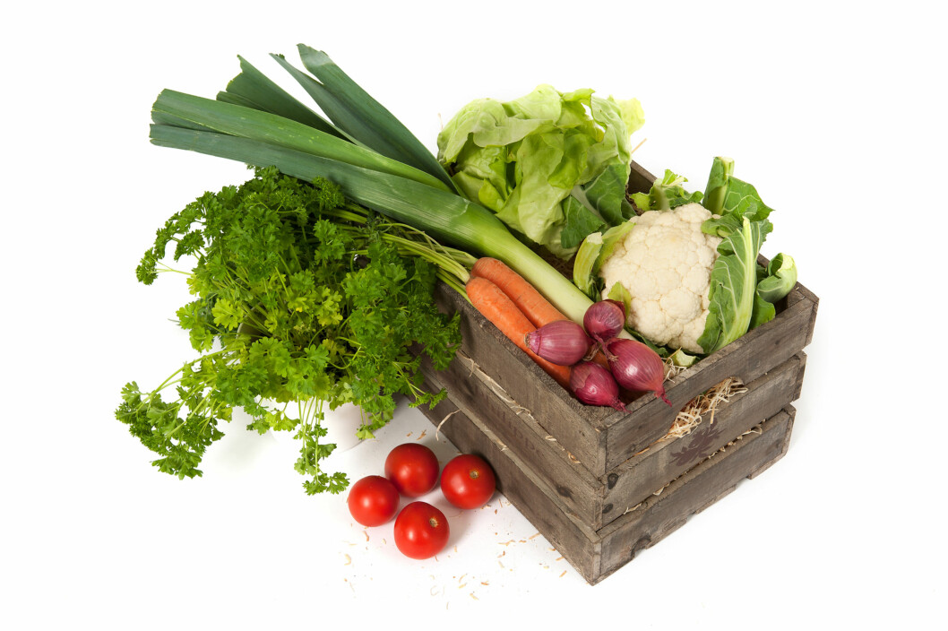 VITAMINER: Mens vitaminene sitter i og under skallet i epler, pærer og plommer, er de jevnt fordelt i salat, gulrøtter og brokkoli.  Foto: Werner Fellner - Fotolia
